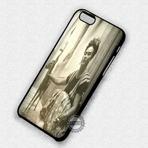 Frida Kahlo and Her Pet - iPhone 7 6 Plus 5c 5s SE Cases & Covers