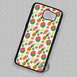 Fruit Pattern Watermelon Kiwi Pinneaple Lemon - Samsung Galaxy S7 S6 S5 Note 7 Cases & Covers
