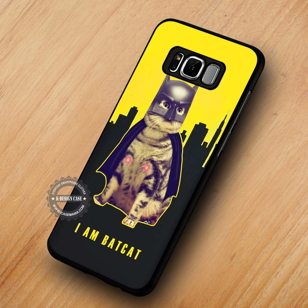 timeless design b61b8 fe63c Funny Batcat Superhero Batman - Samsung Galaxy S8 S7 S6 Note 8 Cases &  Covers #SamsungS8
