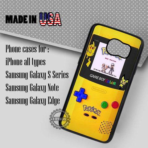 Gameboy Color Pokemon - Samsung Galaxy S7 S6 S5 Note 5 Cases & Covers
