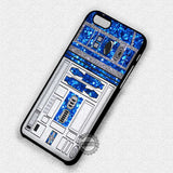 Glitter R2D2 Star Wars - iPhone 7 6S 5S SE4S Cases & Covers