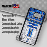 Glitter R2D2 Star Wars - Samsung Galaxy S7 S6 S5 Note 5 Cases & Covers