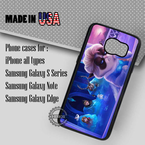 Grumpy Cat Elsa Frozen - Samsung Galaxy S8 S7 S6 Note 8 Cases & Covers
