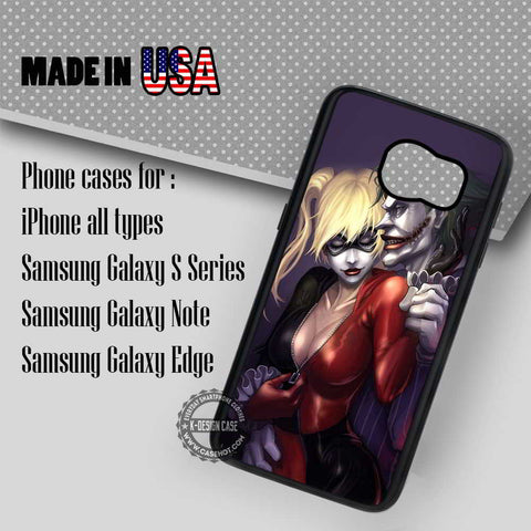 Harley Quinn and Joker - Samsung Galaxy S8 S7 S6 Note 8 Cases & Covers
