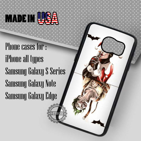 Harley Quinn and Joker Card - Samsung Galaxy S8 S7 S6 Note 8 Cases & Covers