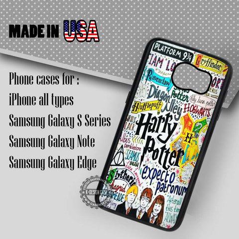 Harry Potter Collage Art - Samsung Galaxy S7 S6 S5 Note 5 Cases & Covers