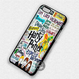 Harry Potter Collage Art - iPhone 8+ 7 6s SE Cases & Covers