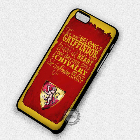Harry Potter Gryffindor - iPhone 7 6 Plus 5c 5s SE Cases & Covers
