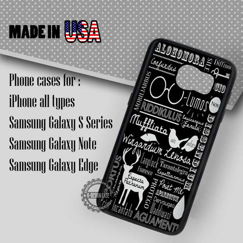 Harry Potter Spells - Samsung Galaxy S7 S6 S5 Note 5 Cases & Covers