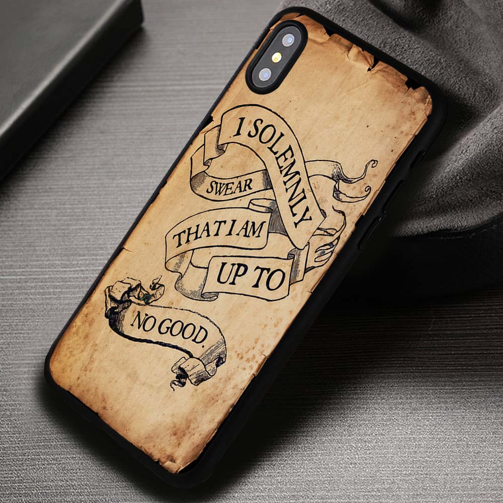 Harry Potter Quote I Solemnly Swear That I Am Up To No Good Iphone