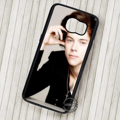 Harry Style with Necklace One Direction - Samsung Galaxy S7 S6 S5 Note 7 Cases & Covers