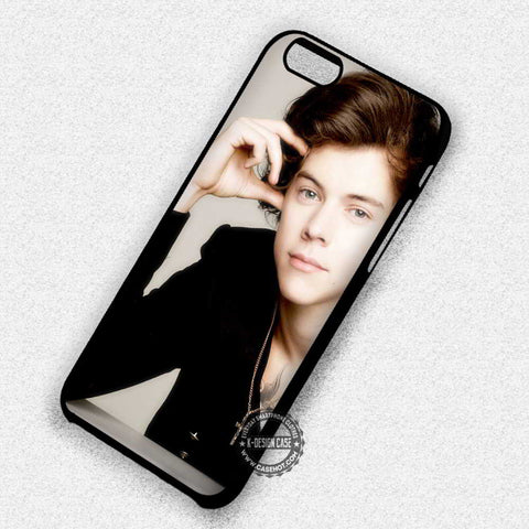Harry Style with Necklace One Direction - iPhone 7 6 Plus 5c 5s SE Cases & Covers