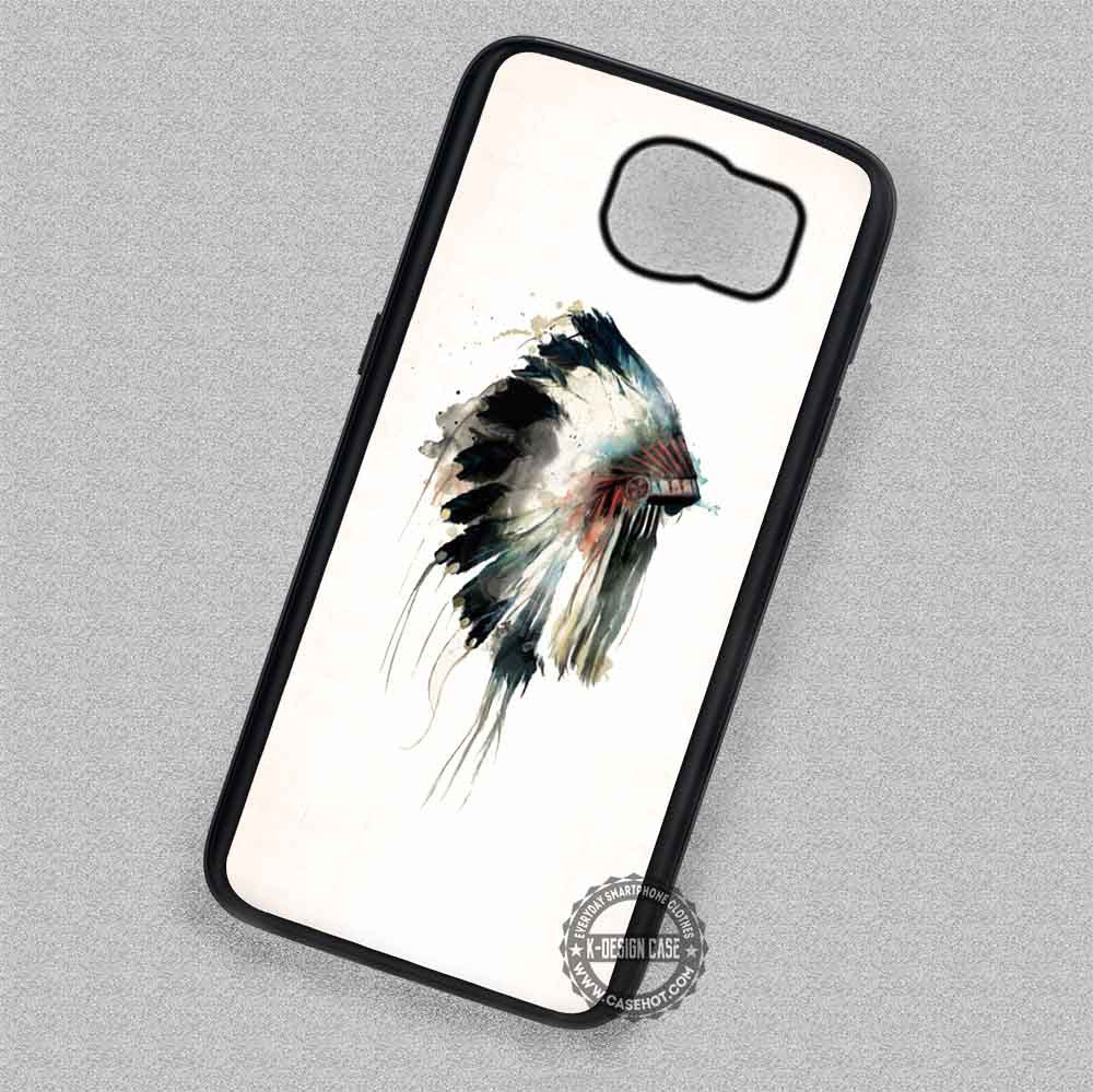 new styles 549ef 7d52c Headdress Watercolor Cell Native American Indian - Samsung Galaxy S7 S6 S5  Note 5 Cases & Covers