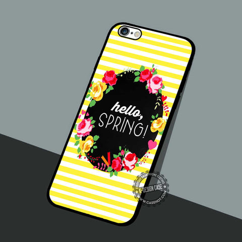 Hello Spring Printable - iPhone 7 6 5 SE Cases & Covers