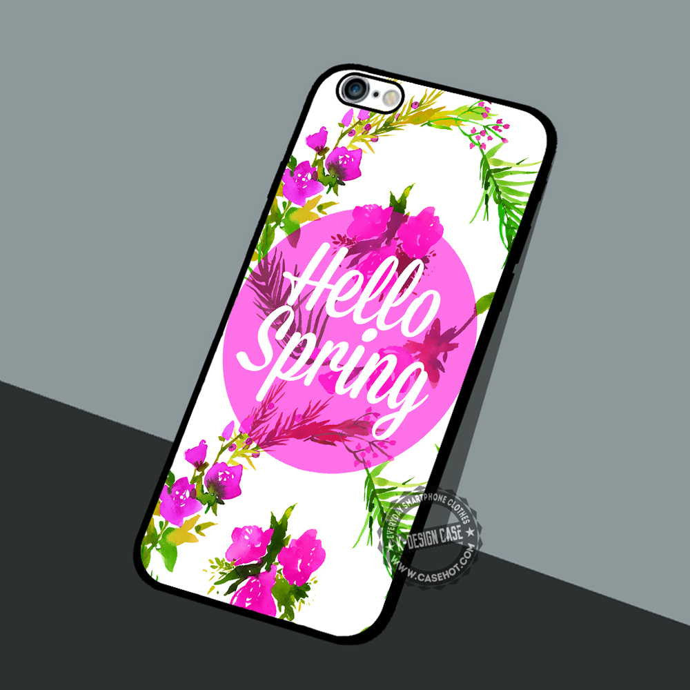 Hello Spring Floral Iphone 7 6 5 Se Cases Covers