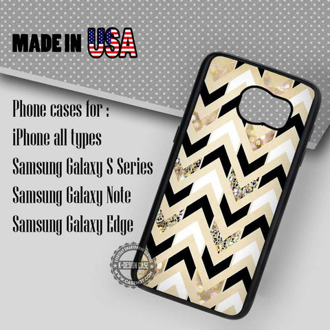 Herringbone Chevron sparkly - Samsung Galaxy S8 S7 S6 Note 8 Cases & Covers