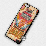Hipster Love Peace - iPhone 7 6 Plus 5c 5s SE Cases & Covers