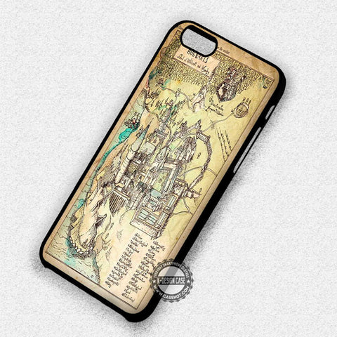 Hogwarts School Map - iPhone 7 6 5 SE Cases & Covers