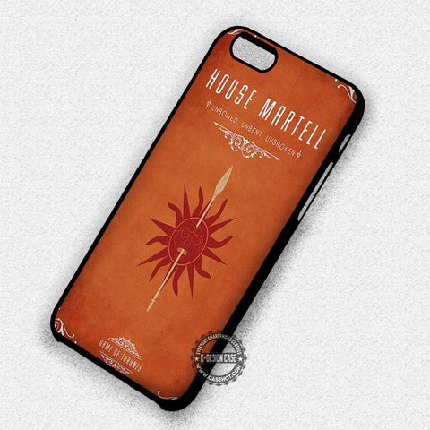 House Martell Game Of Thrones - iPhone 7 6 Plus 5c 5s SE Cases & Covers