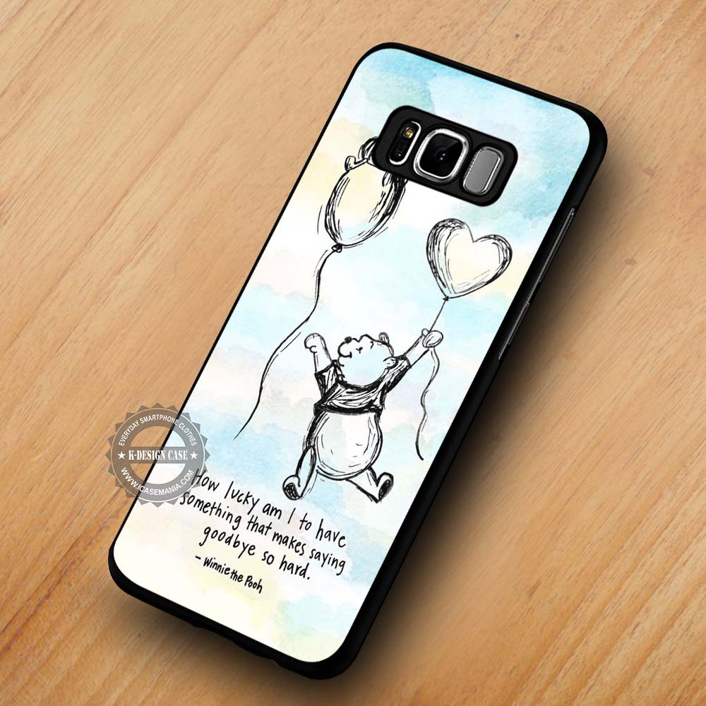 How Lucky Am I Winnie The Pooh Quote Samsung Galaxy S8 S7 S6 Note