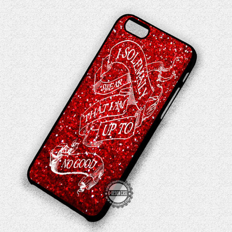 Potter Red Glitter - iPhone 7 6 5 SE Cases & Covers
