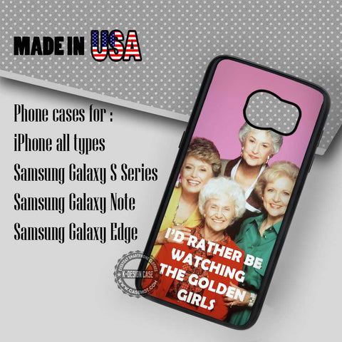 I'd Rather Be Watching - Samsung Galaxy S7 S6 S5 Note 5 Cases & Covers