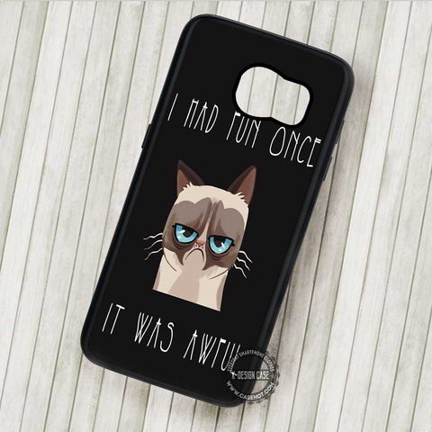 I Had Run Once Quote Grumpy Cat - Samsung Galaxy S7 S6 S5 Note 7 Cases & Covers