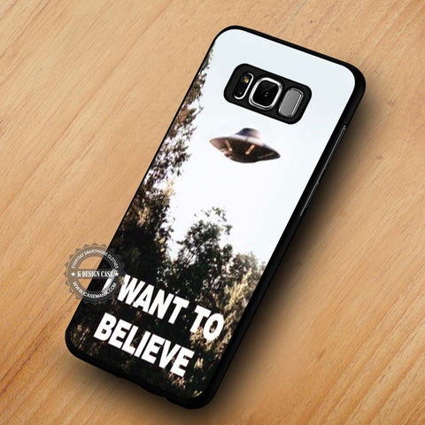 I Want To Believe X-Files Poster - Samsung Galaxy S8 Case