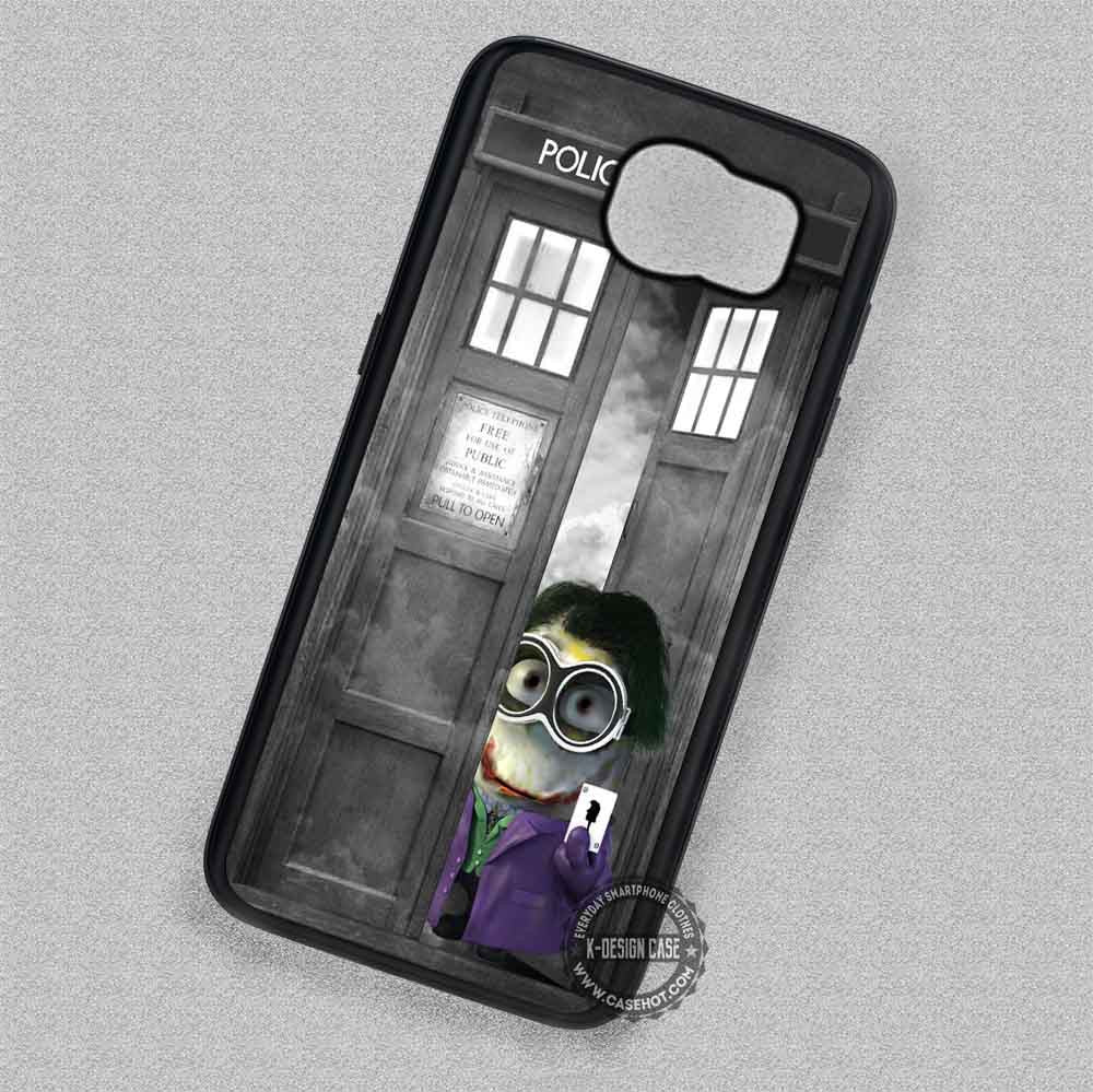 watch fd7a7 b81ca Joker Minion In Tardis - Samsung Galaxy S7 S6 S5 Note 7 Cases & Covers