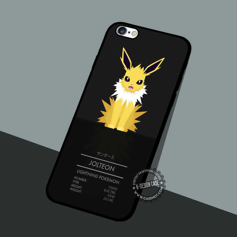 Jolteon Lightning Pokemon - iPhone 7 6 5 SE Cases & Covers