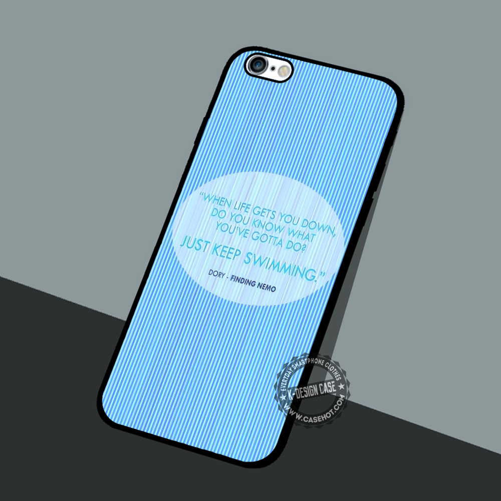finest selection 8c2c2 534f4 Keep Swimming Qoute - iPhone 7 6 5 SE Cases & Covers