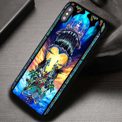 Kingdom Hearts Stained Glass Disney - iPhone X Case