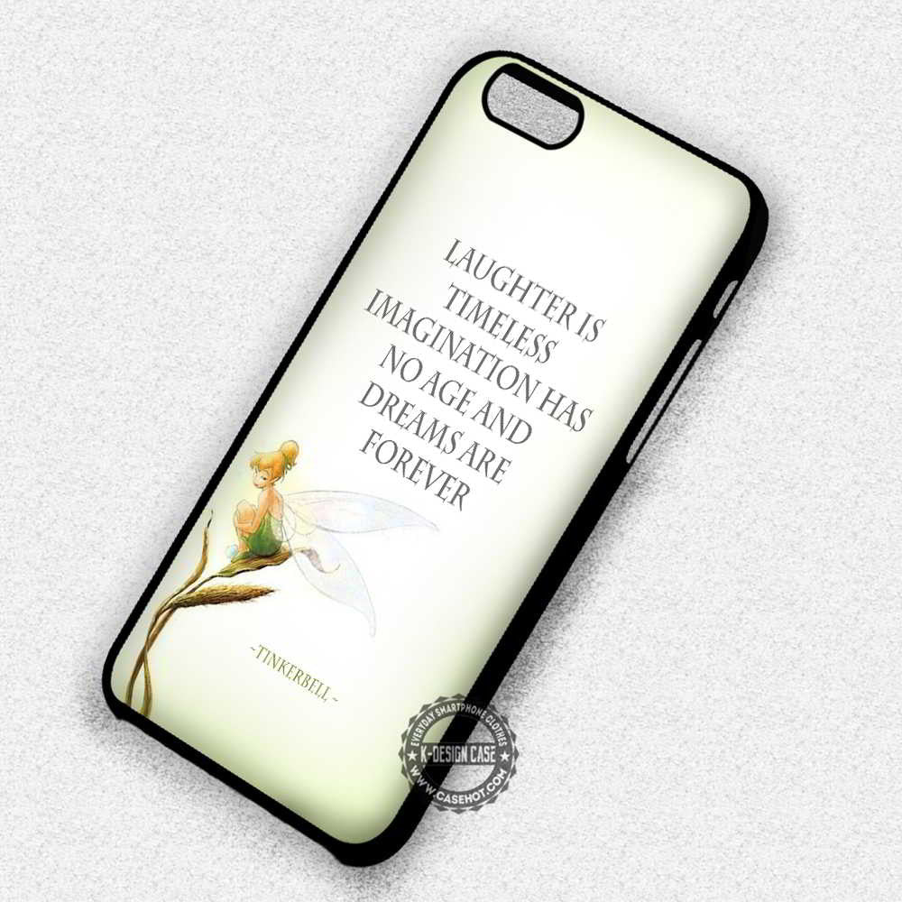 new style 612be dbcf4 Laughter is Timeless Tinkerbell Disney - iPhone 7 6 Plus 5c 5s SE Cases &  Covers
