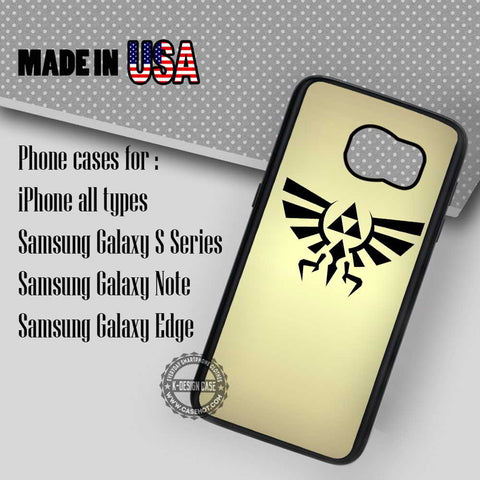 Zelda Triforce Hylian Crest Gold - Samsung Galaxy S7 S6 S5 Note 5 Cases & Covers