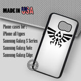 Zelda Triforce Hylian Crest Silver - Samsung Galaxy S7 S6 S5 Note 5 Cases & Covers
