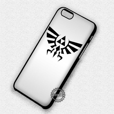 Triforce Hylian Crest Silver - iPhone 8+ 7 6s SE Cases & Covers
