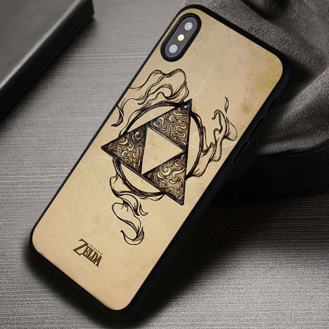 Legend of Zelda Triforce Lightning - iPhone X Case