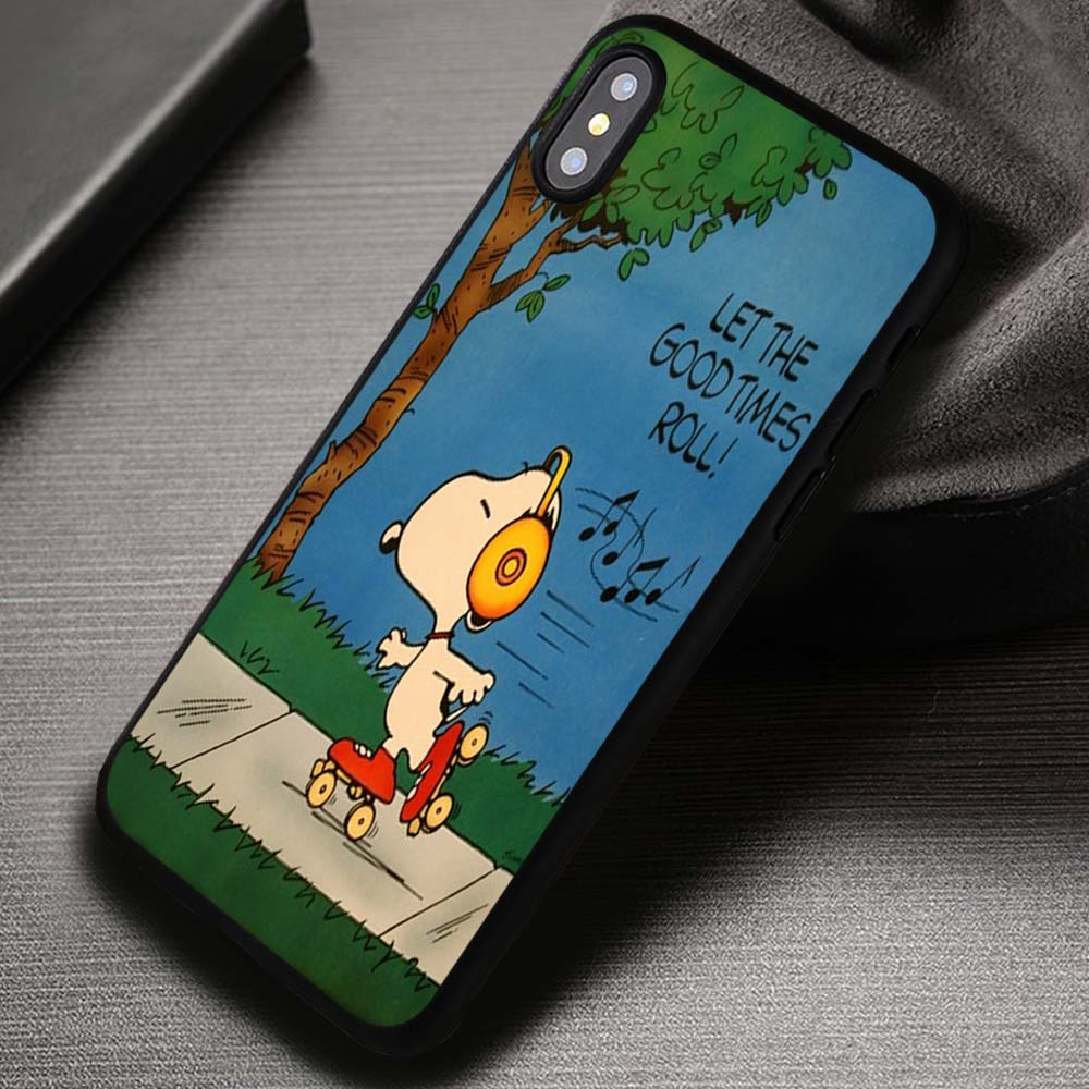 Let The Good Times Roll Snoopy Love Quotes - iPhone X 8+ 7 6s SE Cases &  Covers #iPhoneX