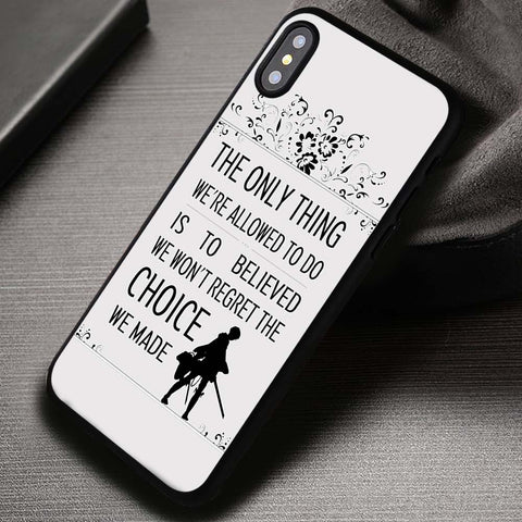 Levi Rivaille Quote - iPhone X Case