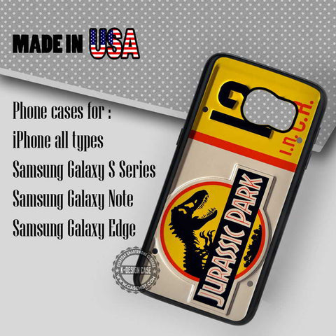 License Plate Jurassic Park - Samsung Galaxy S7 S6 S5 Note 5 Cases & Covers