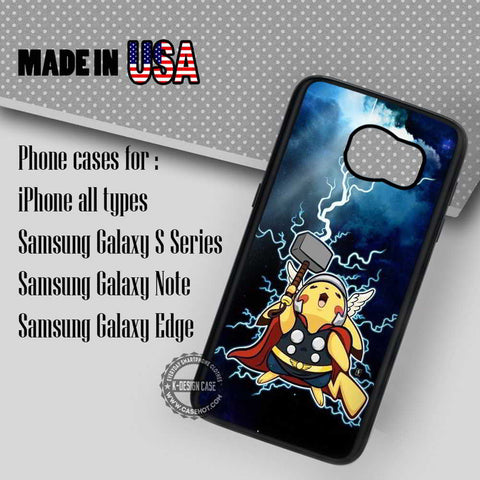 Lightning Pikachu Pokemon - Samsung Galaxy S7 S6 S5 Note 5 Cases & Covers