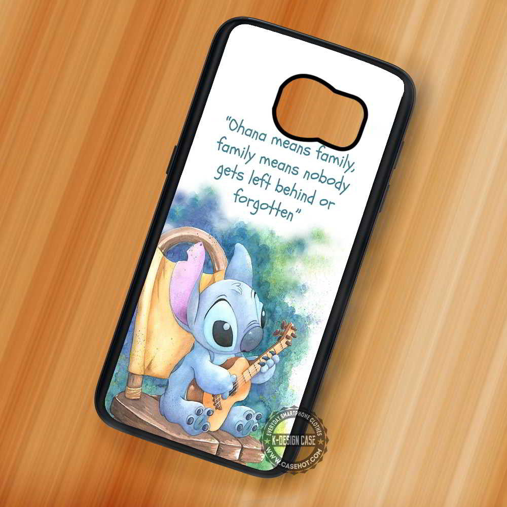Lilo And Stitch Quote Ohana Disney Samsung Galaxy S7 S6 S5 Note 7