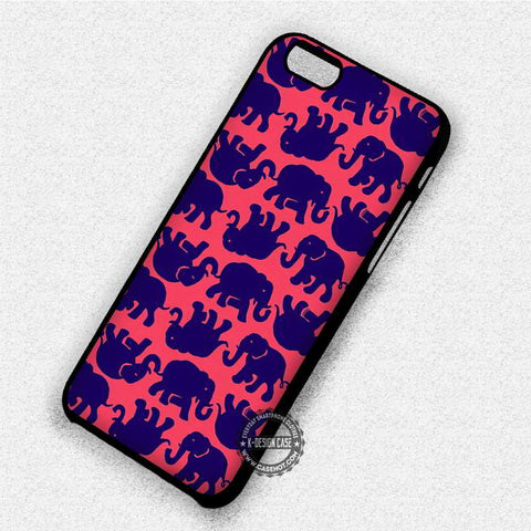 Pink Blue Elephant Ornate - iPhone 7 6 Plus 5c 5s SE Cases & Covers