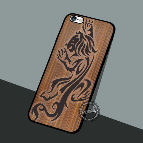 Lion Wood Texture - iPhone 7 6 5 SE Cases & Covers