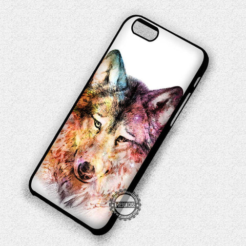 Lonely Wolf Drawing - iPhone 7 Plus 6S 5 SE Cases & Covers