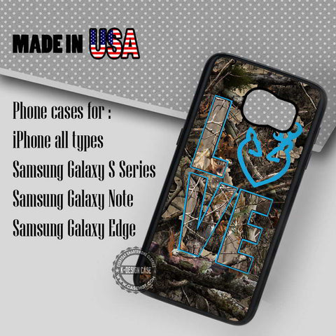 Love Browning Deer Camo - Samsung Galaxy S7 S6 S5 Note 5 Cases & Covers