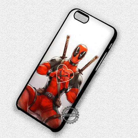 Love Heart Deadpool - iPhone 8+ 7 6s SE Cases & Covers