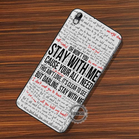 Lyric Collage Sam Smith - LG Nexus Sony HTC Phone Cases and Covers