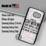 Lyric Collage Sam Smith - Samsung Galaxy S7 S6 S5 Note 5 Cases & Covers