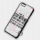 Lyric Collage Sam Smith - iPhone 7 6 Plus 5c 5s SE Cases & Covers